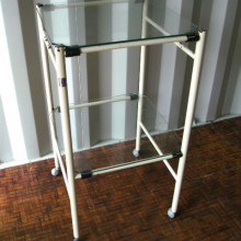 Trolley - Glass trolley with shelves
