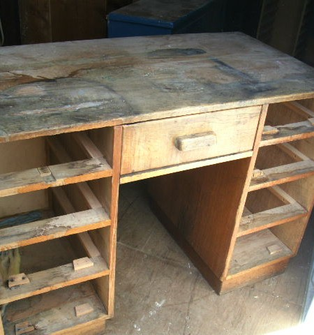 Desk - oak Desk  for refurbishment