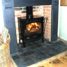 slate surround and 7.3kw carron with 6