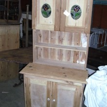 Dresser - with leaded glass