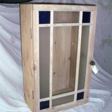 Coloured glass cupboard