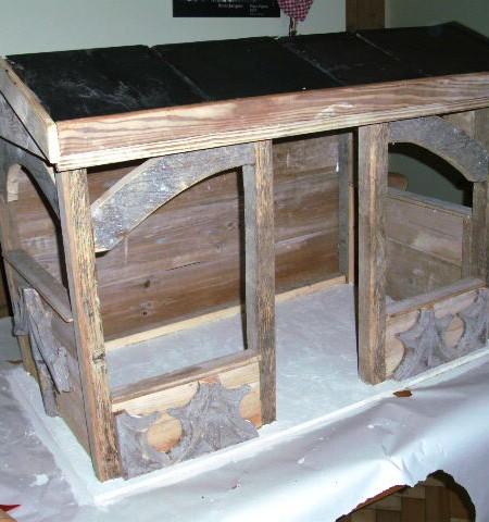 Church nativity crib