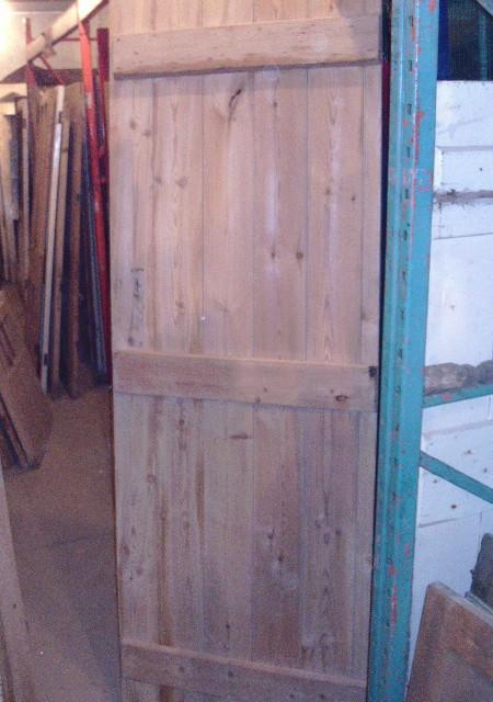 Ledged pine door 28 3/4