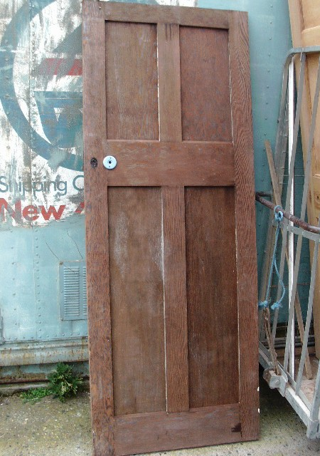 Vintage 4 panel door small panels above large panels 30 x 78