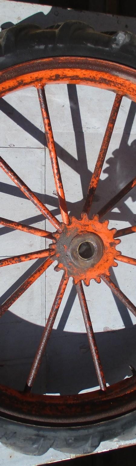 Wheels , vintage industrial set of 4