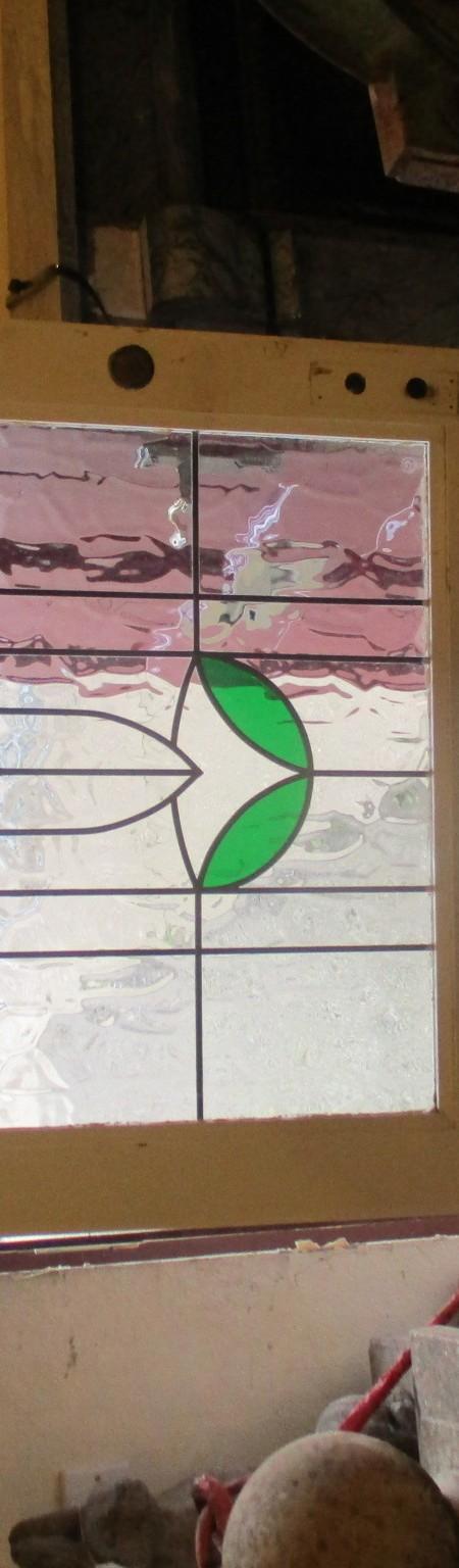 Leaded reproduction glazed door
