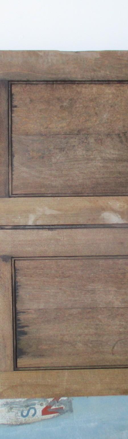 Pair Mahogany external part glazed french doors 53 1/2