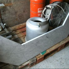 Marble angled counter piece