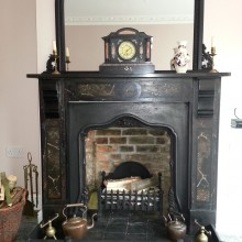 Slate Fireplace and mirror