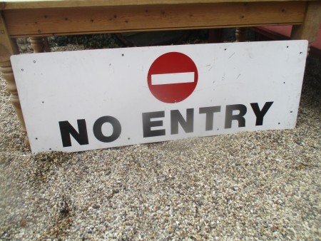 No Entry Sign 60 inches x 20 inches