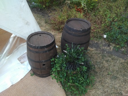 Barrels - oak full or half as required.