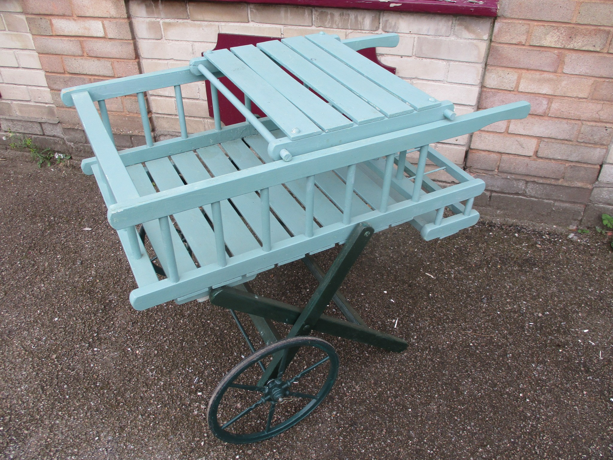 Cart - small Vintage flower or sweet cart, folding.