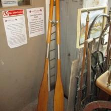 pair of rowing oars