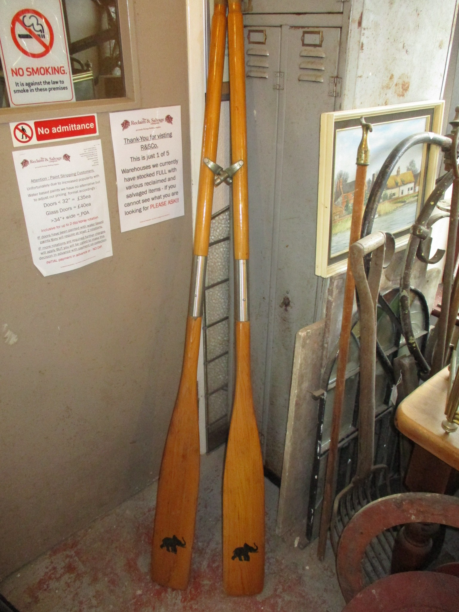 pair of rowing oars