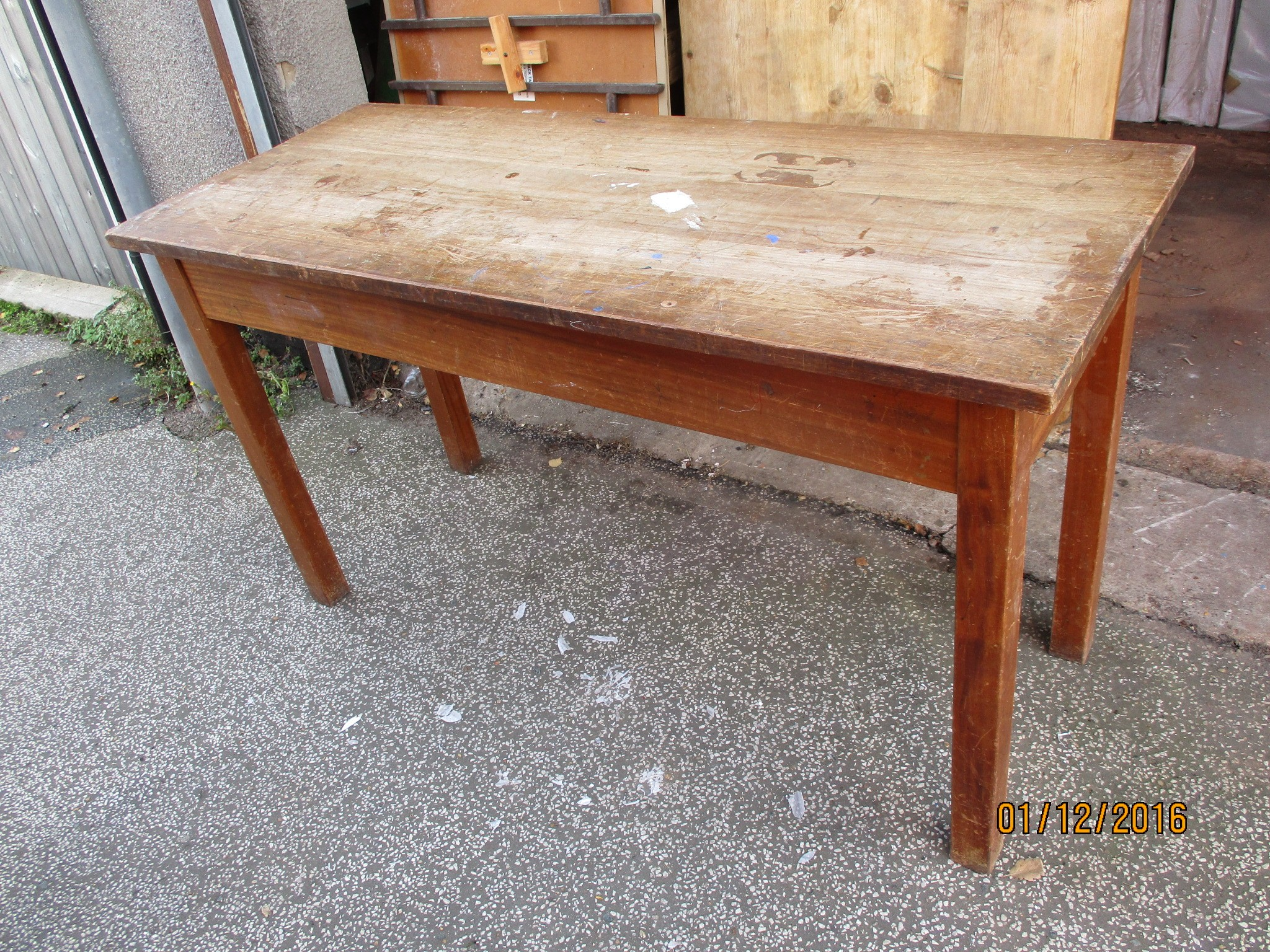 Table - school science table 60cm x 150cm x 85cm