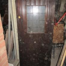 Plank door with leaded window 35