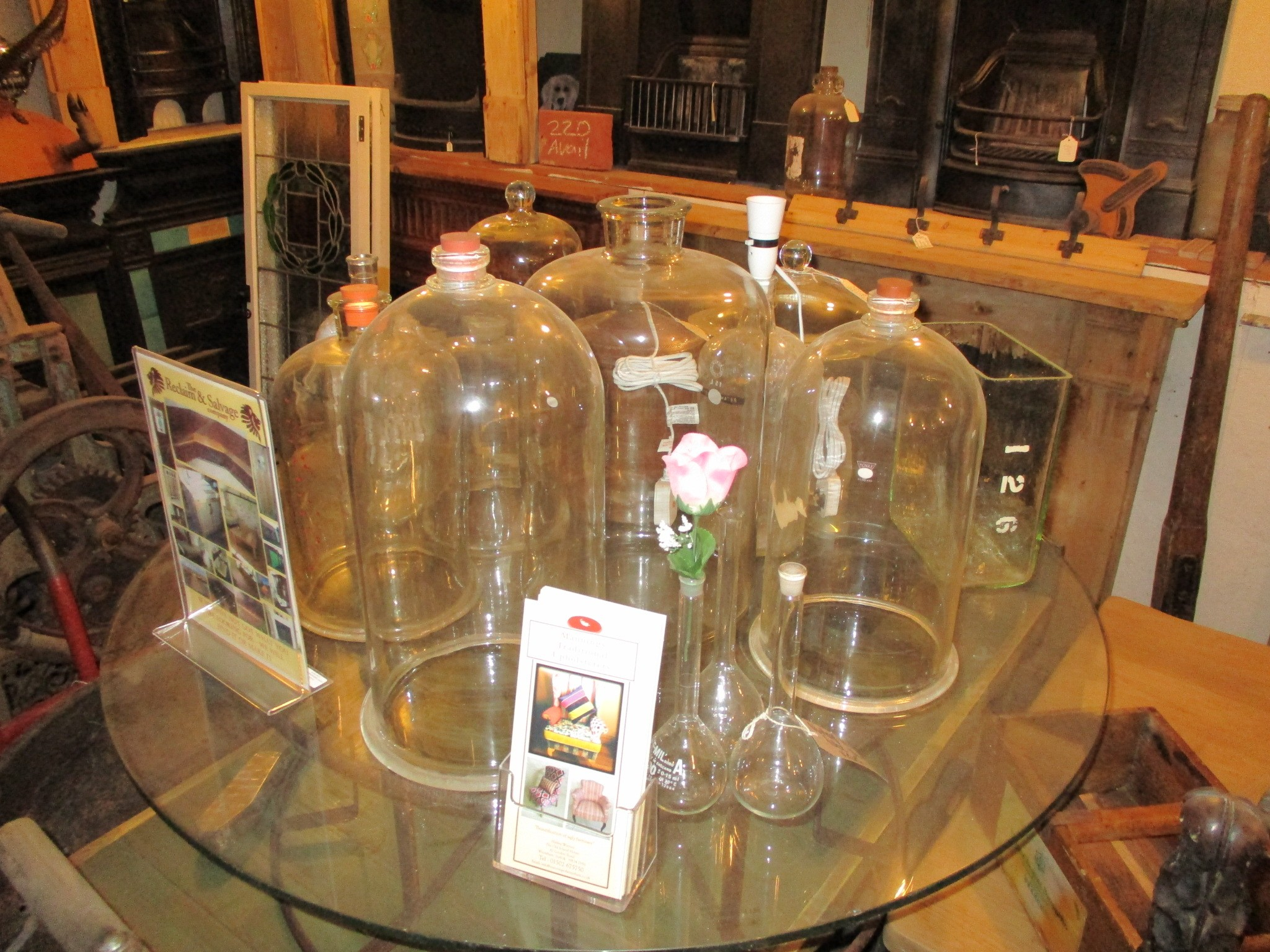 Bell jars and large bottles always in stock