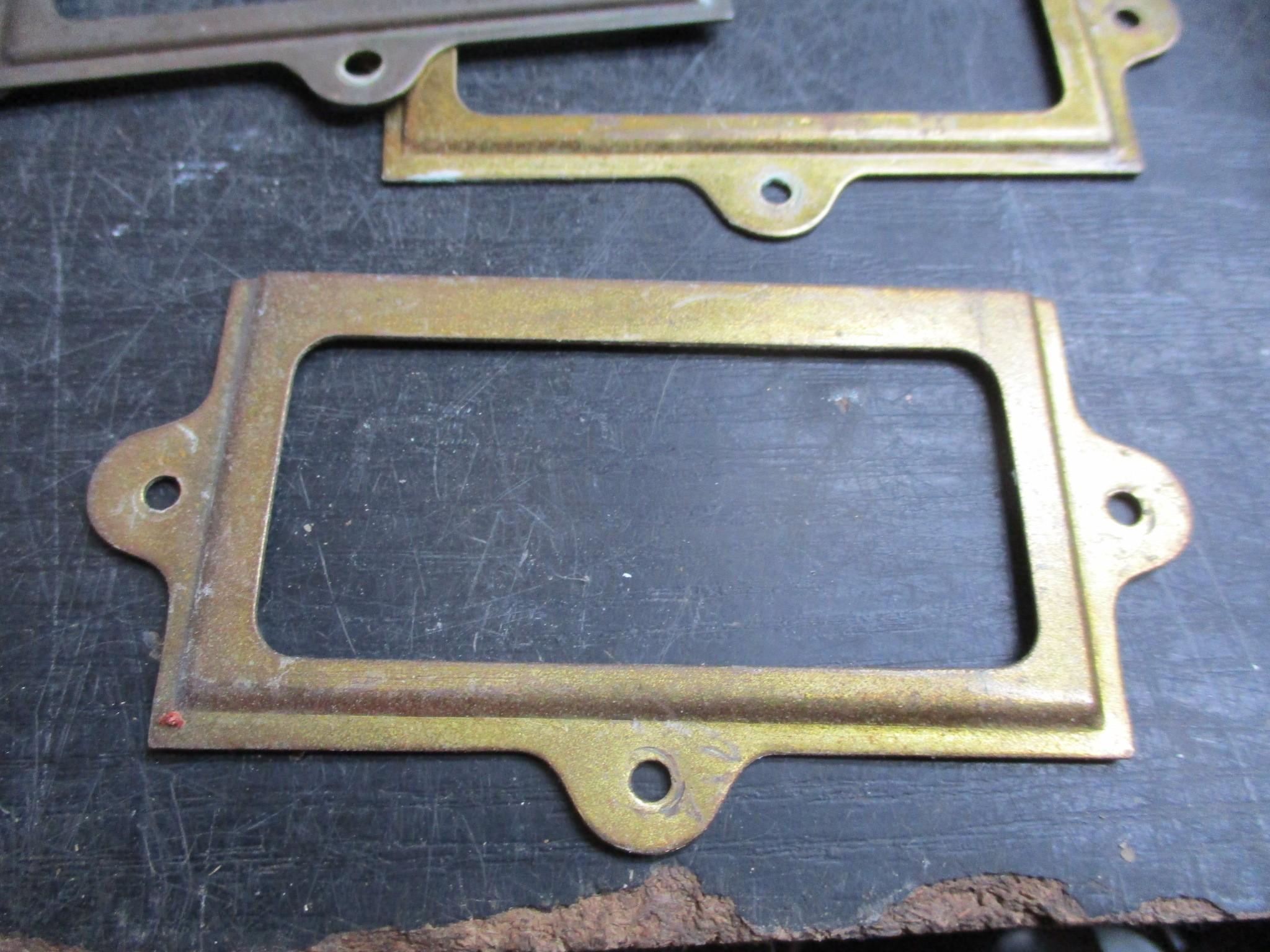metal brass nameplate holders