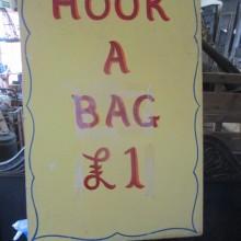 'Hook a Bag' Fairground handpainted oil on board signage