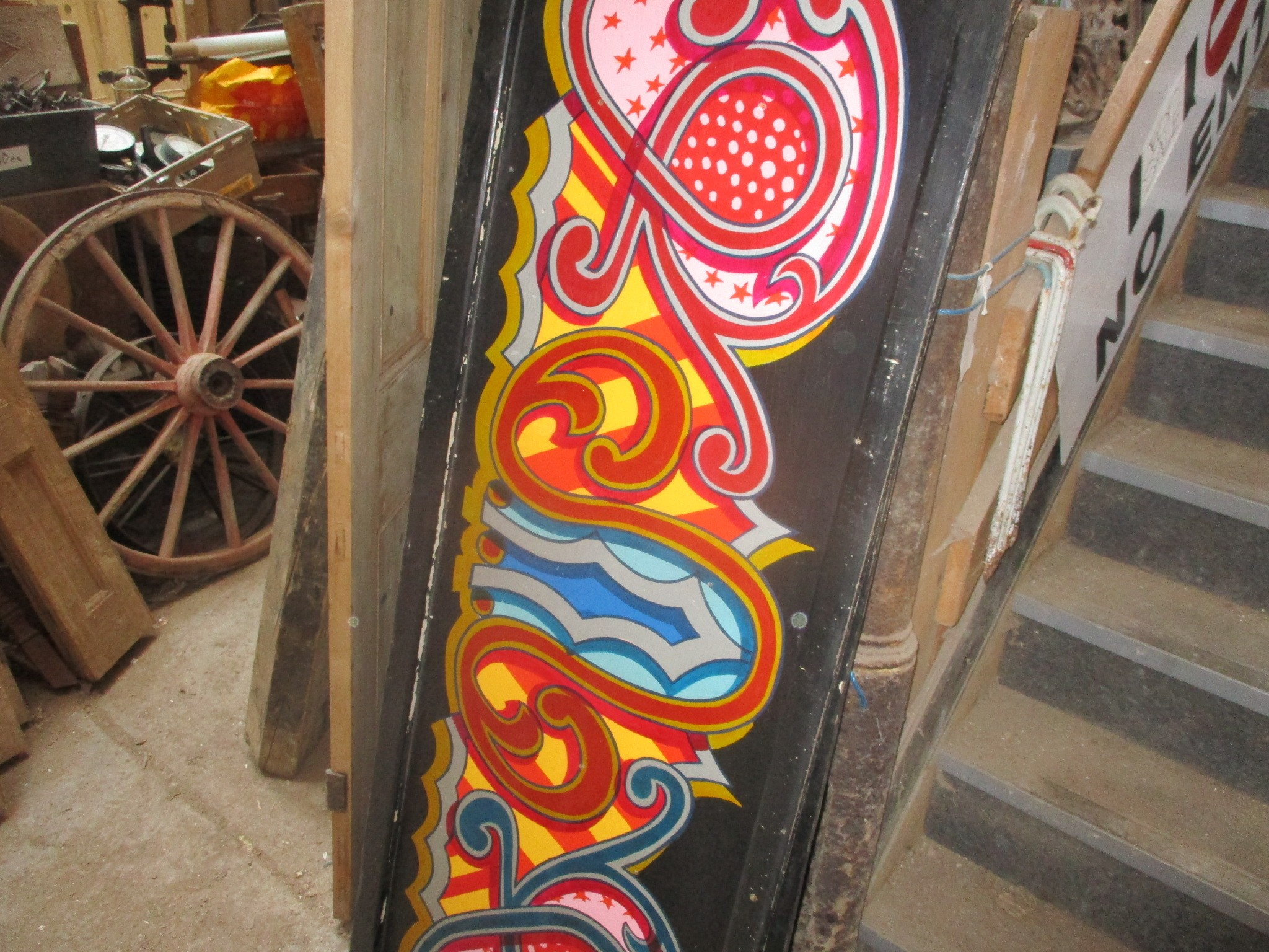 Fairground Decorative Hand- painted oil on Plywood signage